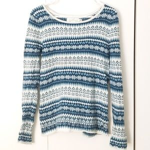H&M Christmas fair isle patterned scoop sweater